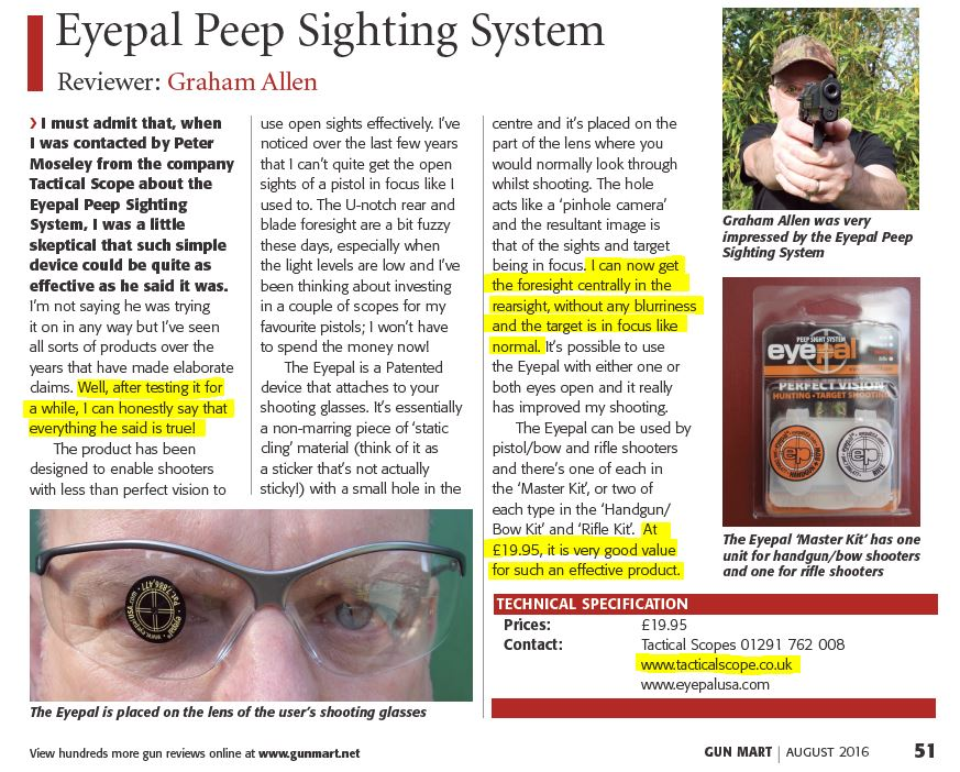 Eyepal review August 2016