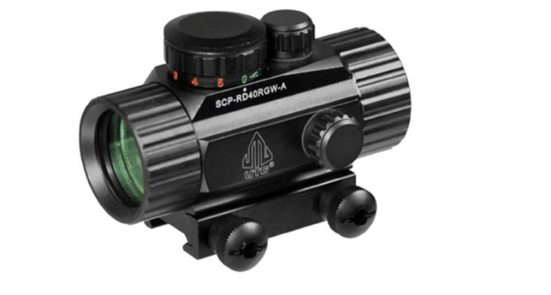 Leapers UTG 1x30 CQB Red-Green Dot Reflex Sight and Weaver/Picatinny Mount  Rings