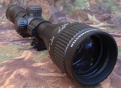 Nikko Stirling Mountmaster 4x40 Parallax AO Half Mil Dot Rifle Scope with 9-11mm Mount Rings